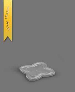 درب ظرف اسنک کارن شفاف کد2 - ظروف یکبار مصرف کوشا