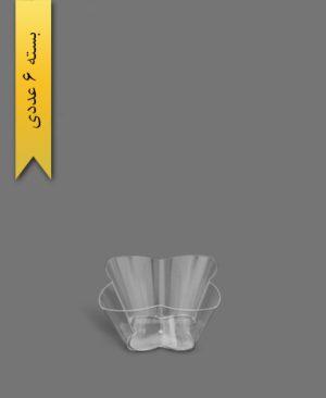 ظرف اسنک 650ml کارن شفاف کد2 - ظروف یکبار مصرف کوشا