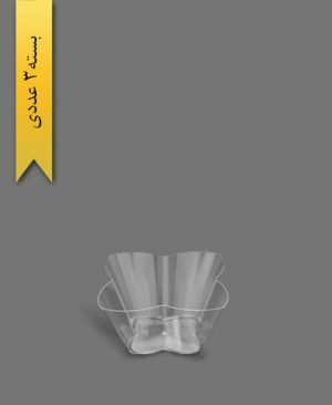 ظرف اسنک 1200ml کارن شفاف کد3 - ظروف یکبار مصرف کوشا