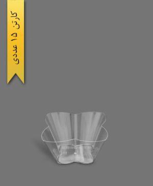 ظرف اسنک 3500ml کارن شفاف کد5 - ظروف یکبار مصرف کوشا
