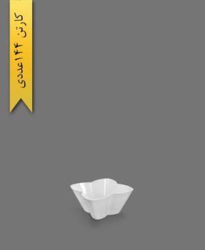 ظرف اسنک 650ml کارن سفید کد2 - ظروف یکبار مصرف کوشا