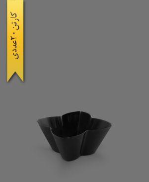ظرف اسنک 2200ml کارن مشکی کد4 - ظروف یکبار مصرف کوشا