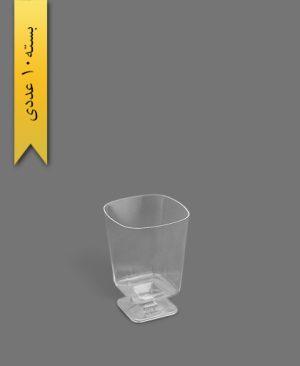 مینی جام 90cc چهار گوش لوکس شفاف - ظروف یکبار مصرف کوشا