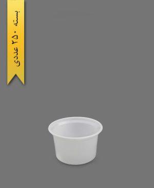 سطل ماستی شیری 2000cc - سطل یکبار مصرف احدی