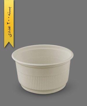 سطل گیاهی ماستی 1300cc - ظروف گیاهی یکبار مصرف زرفام