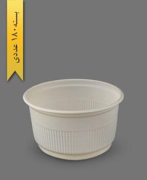 سطل گیاهی ماستی 1500cc - ظروف گیاهی یکبار مصرف زرفام
