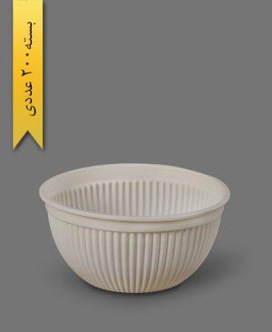 کاسه گیاهی صدفی 1000cc - ظروف گیاهی یکبار مصرف زرفام