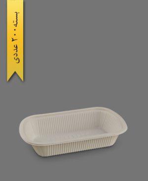 ظرف غذای تک پرس گیاهی - ظروف گیاهی یکبار مصرف زرفام