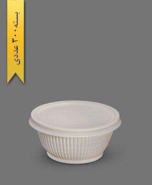 کاسه گیاهی صدفی 500cc - ظروف گیاهی یکبار مصرف زرفام