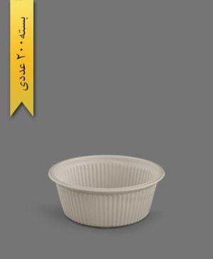 کاسه خورشتی گیاهی 400cc - ظروف گیاهی یکبار مصرف زرفام