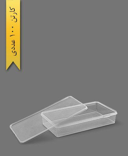 ظرف مایکرویو M2000 با درب - ظروف یکبار مصرف طب پلاستیک