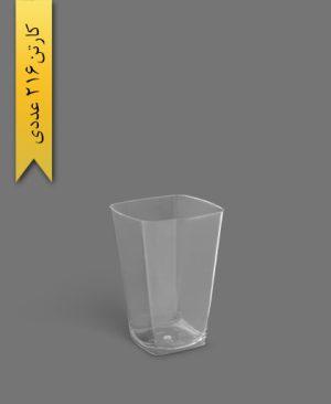 لیوان روشا 400cc شفاف - ظروف یکبار مصرف برنا