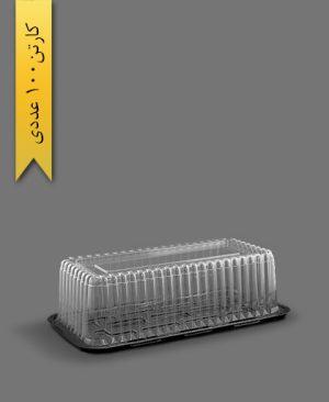 ظرف کیک رولتی کوچک - ظروف یکبار مصرف آذران ورق