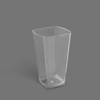 لیوان روشا 500cc شفاف – برنا (بسته 12 عددی)