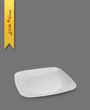 بشقاب کلاسیک سفید - ظروف یکبار مصرف کوهسار