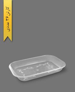 ظرف پیرکس کبابی کوچک کد 368 - ظروف یکبار مصرف کوهسار