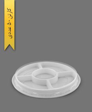 ظرف آجیل زیره سفید - ظروف یکبار مصرف آذران ورق