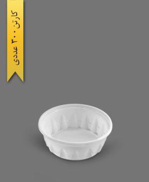 کاسه نیلوفری 200cc سفید - ظروف یکبار مصرف ام جی