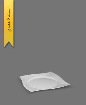 پیش دستی کیک خوری VIP سفید - ظروف یکبار مصرف کوهسار