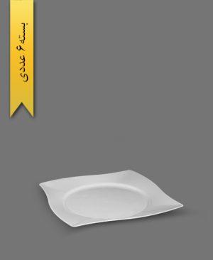 پیش دستی میوه خوری VIP سفید - ظروف یکبار مصرف کوهسار