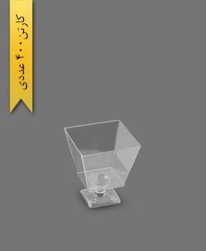 مینی جام آینا شفاف کد 100 - ظروف یکبار مصرف کوهسار