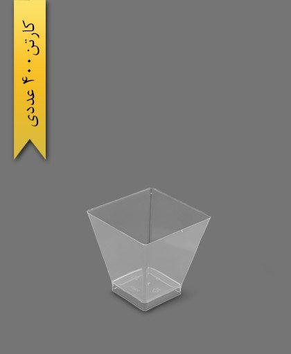 دسری آینا شفاف کد 114 - ظروف یکبار مصرف کوهسار