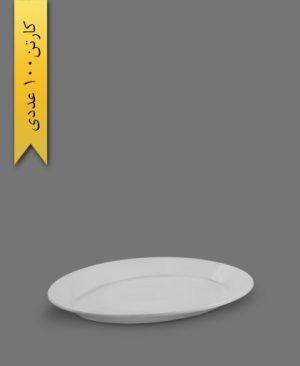 یس بیضی سفید کد 449 - ظروف یکبار مصرف کوهسار