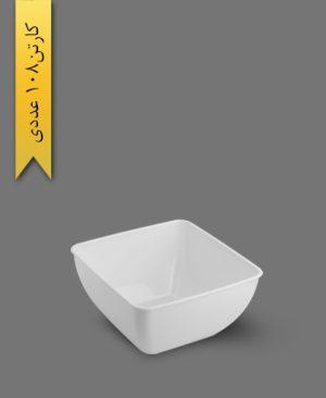 پیاله چهارگوش لوکس 350 سفید - ظروف یکبار مصرف کوشا