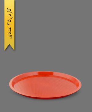 سینی گرد درنیکا قرمز کد C5 - ظروف یکبار مصرف کوشا