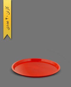 سینی گرد درنیکا قرمز کد C4 - ظروف یکبار مصرف کوشا
