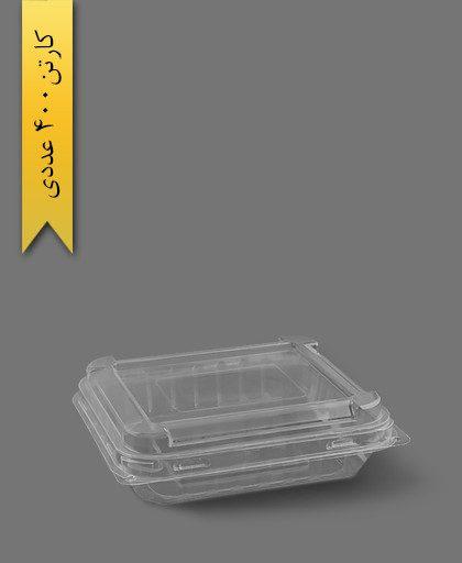 ظرف دسر چهارگوش - ظروف یکبار مصرف پارس پلاستیک