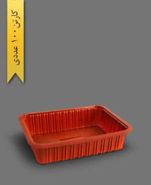 ظرف تک خانه کد 303 قرمز - ظرف یکبار مصرف ام پی