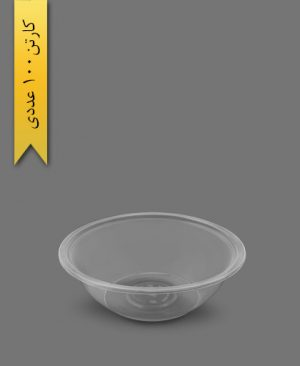 زیره ظرف سالاد سزار 1500 شفاف - ظروف یکبار مصرف ام پی