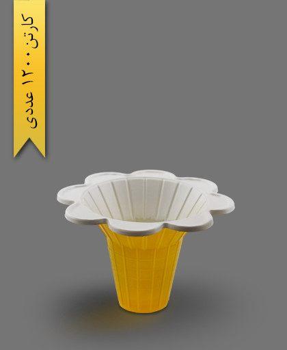 ظرف قیفی 150 - ظرف یکبار مصرف ام پی