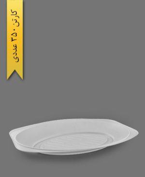 دیس بزرگ سفید - ظرف یکبار مصرف به ظرف