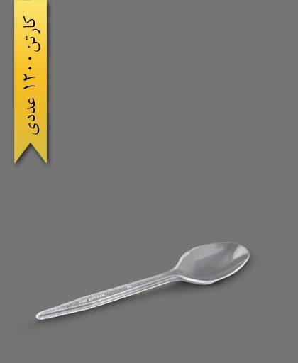 قاشق گلد شفاف - ظروف یکبار مصرف تاک واریان