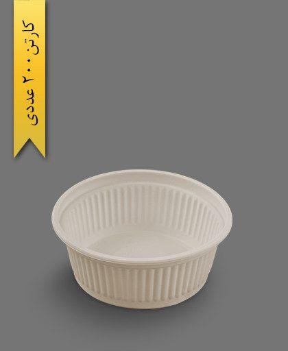کاسه خورشتی 400cc گیاهی - ظروف گیاهی یکبار مصرف آملون