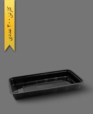 دیس مستطیل 30cm مشکی - ظروف یکبار مصرف آذران ورق