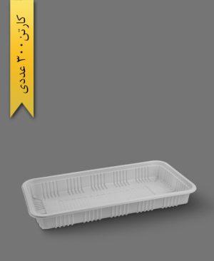 دیس مستطیل 30cm سفید - ظروف یکبار مصرف آذران ورق