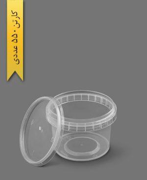 سطل ماکروویو 250cc شفاف - ظروف یکبار مصرف پولاد پویش