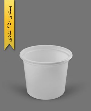 سطل ماستی 1500cc - ps - 18gr - ظروف یکبار مصرف پیشگامان