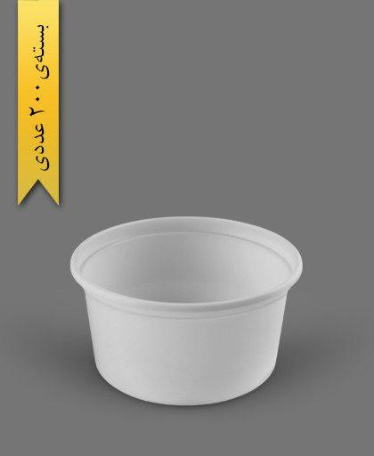 سطل ماستی تخت 2000cc - ps - 24g - ظروف یکبار مصرف پیشگامان