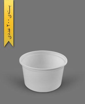 سطل ماستی 2300cc - ps - 28gr - ظروف یکبار مصرف پیشگامان