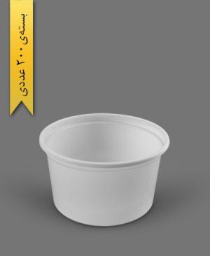 سطل ماستی 2300cc - ps - 32gr - ظروف یکبار مصرف پیشگامان