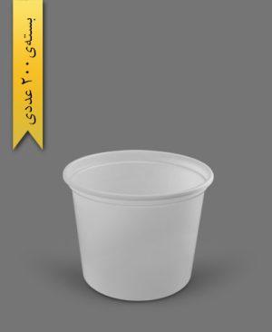 سطل ماستی 2700cc - ps - 35gr - ظروف یکبار مصرف پیشگامان