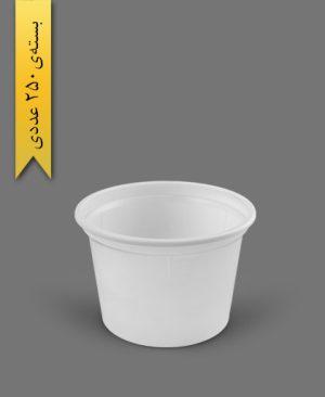 سطل ماستی 1100cc - ps - 16gr - ظروف یکبار مصرف پیشگامان