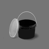 سطل B310 مشکی با درب – طب پلاستیک