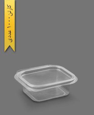 چهار گوش عسلی لولایی متوسط اکونومی - ظروف یکبار مصرف تاب فرم