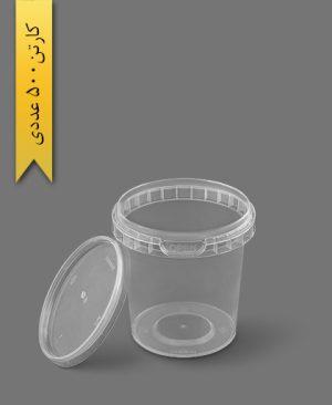 سطل ماکروویو 400cc شفاف - ظروف یکبار مصرف پولاد پویش