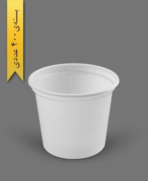 سطل ماستی 700cc - ps - 10gr - ظروف یکبار مصرف پیشگامان